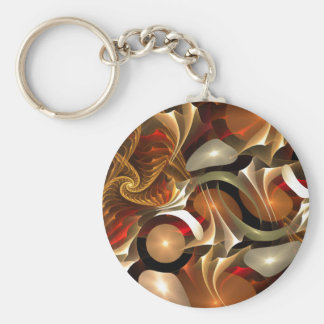 Copper Sci-Fi Abstract Art Keychains
