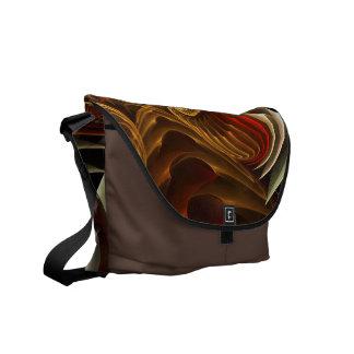 Copper Sci-Fi Abstract Art Messenger Bag