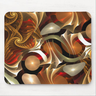 Copper Sci-Fi Abstract Art Mousepads