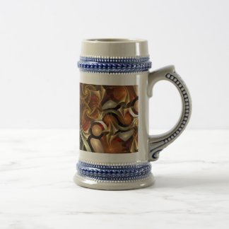 Copper Sci-Fi Abstract Art Coffee Mug