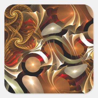 Copper Sci-Fi Abstract Art Stickers