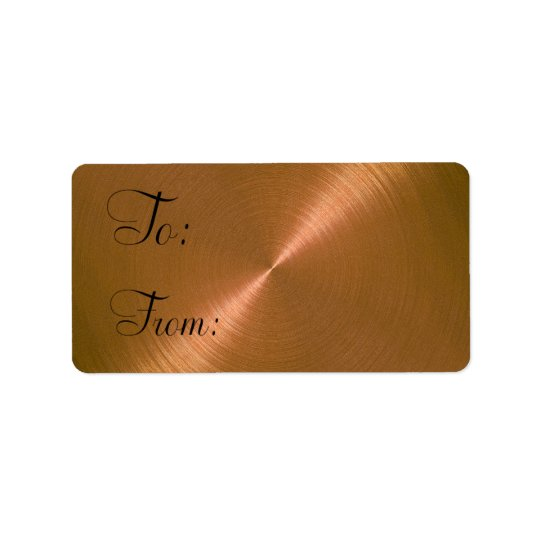 Copper Sheen Gift Tag