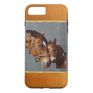 Copper Shimmer Pony Mom iPhone 7 Plus Case
