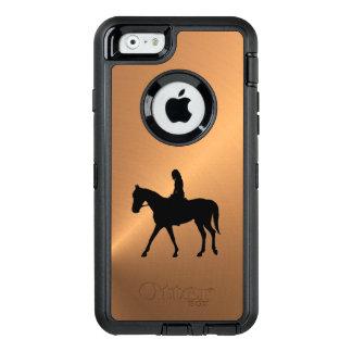 Copper Shine Equine OtterBox Defender iPhone Case