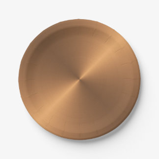 Copper Shine Paper Plate