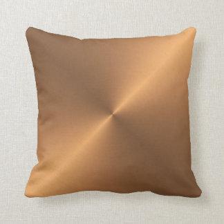 Copper Shine Throw Pillow