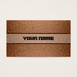 Copper Shiny Stainless Steel Metal 2 Business Card