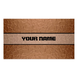 Copper Shiny Stainless Steel Metal 2 Business Card Templates