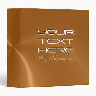 Copper shiny stainless steel metal binders 2