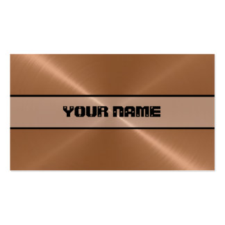 Copper Shiny Stainless Steel Metal Business Card Template