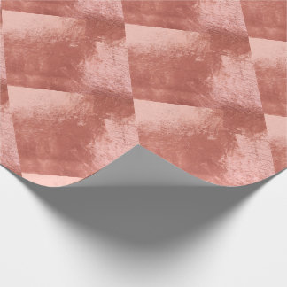 Copper Skinny Rose Gold Metallic Glass Geometry Wrapping Paper