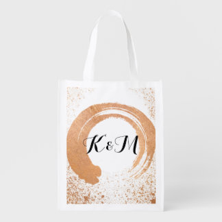 Copper Spray Wedding Collection Gifts Reusable Grocery Bag