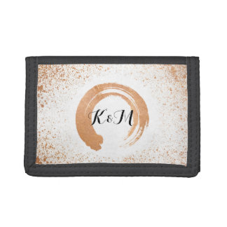 copper Spray Wedding Collection Gifts Tri-fold Wallets