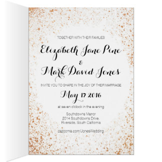 Copper Spray Wedding Collection Wedding Invitation