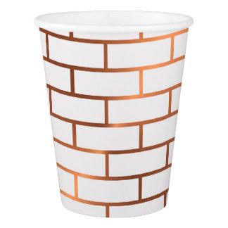 Copper Subway Tile Paper Cups