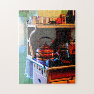 Copper Tea Kettle on Stove Jigsaw Puzzle