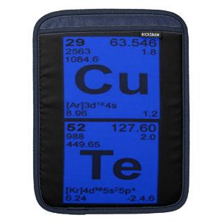 "Copper Tellarium ""CuTe"" Blue Mens Geek Nerdy iPad Sleeves"