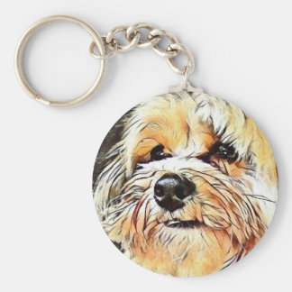Copper the Morkie keychain