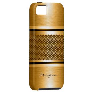 Copper Tones Metallic Look Collage-Monogram iPhone 5 Covers