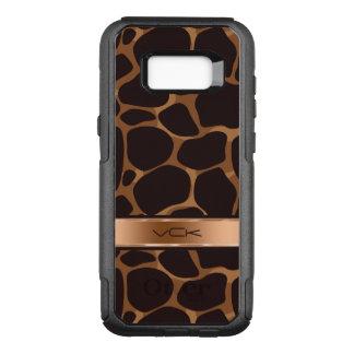 Copper Tones Stylized Leopard Pattern OtterBox Commuter Samsung Galaxy S8+ Case