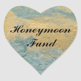 Copper Turquoise Honeymoon Fund Heart Sticker