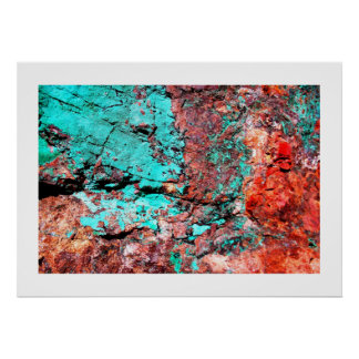 Copper & Turquoise Poster
