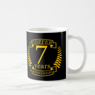 Copper wedding anniversary 7  years coffee mug