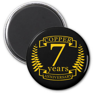 Copper wedding anniversary 7  years magnet
