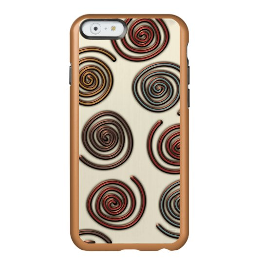 Copper Whirls Shine iPhone 6 Case