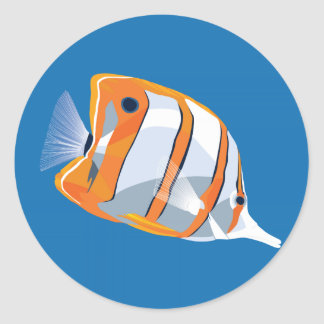 Copperbanded butterfly fish sticker