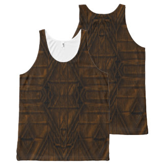 Coppery African Pyramid Design All-Over-Print Tank Top