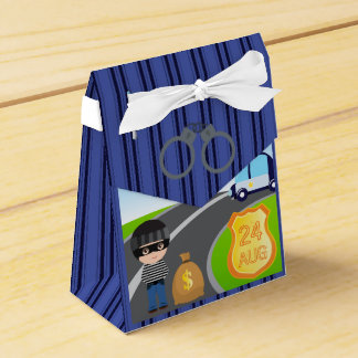 Cops and Robbers Birthday Party Guest Thank You Favor Box