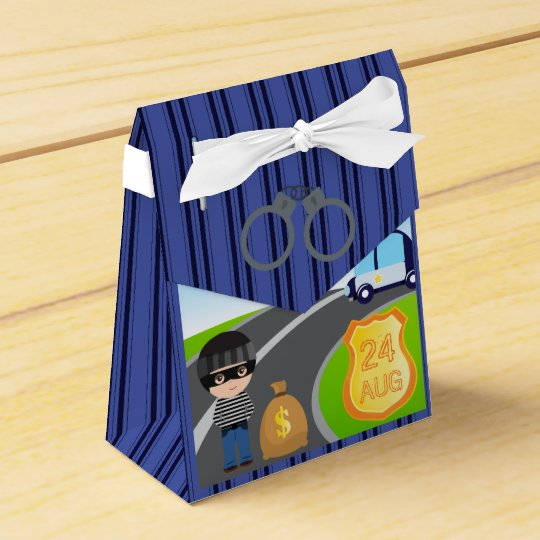 Cops and Robbers Birthday Party Guest Thank You Wedding Favor Boxes
