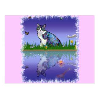 Copy Cat Postcard