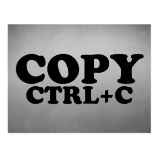 COPY Ctrl+C Twins Postcard