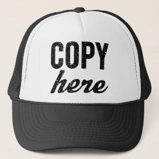COPY For Copy Paste Twins Trucker Hat