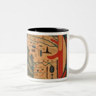 Copy of an 8th century Beatus mappamundi Two-Tone Coffee Mug