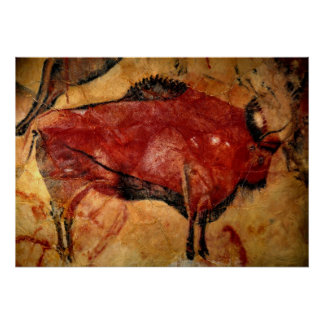 Copy of Bison Cave Painting Poster