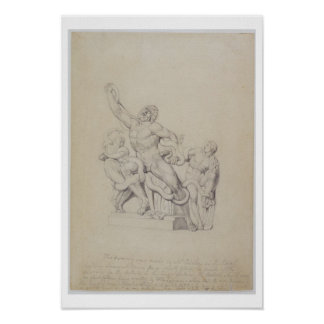 Copy of the Laocoon, for Rees's Cyclopedia, 1815 ( Poster