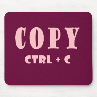 Copy Shortcut Key Mouse Pad