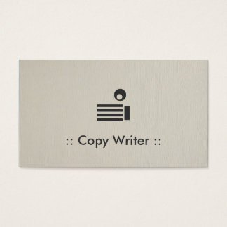 Copy Writer Simple Elegant Professional Business Card