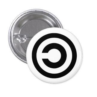 Copyleft 1 Inch Round Button