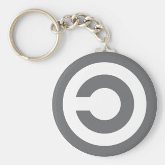 Copyleft - information wants to be free basic round button keychain