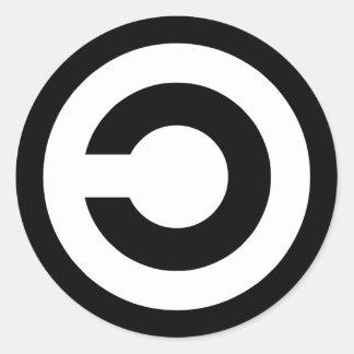 Copyleft - l information veut être libre autocollant rond
