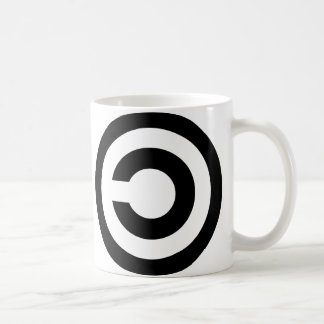 Copyleft - l'information veut être libre tasse à café