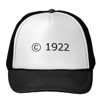 Copyright 1922 hats