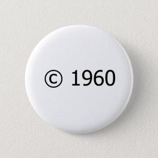 Copyright 1960 2 inch round button