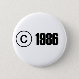 Copyright 1986 2 inch round button