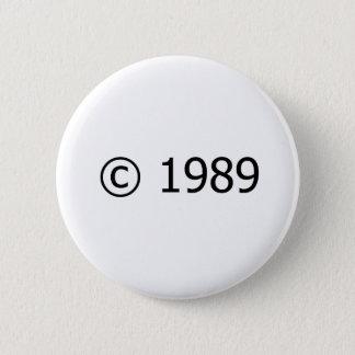 Copyright 1989 2 inch round button