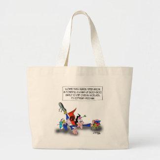Copyright Cartoon 9388 Large Tote Bag